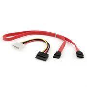 Комплект кабелей SATA Gembird/Cablexpert, интерфейсный (48см) и питания (15см) (CC-SATA)