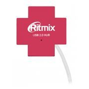 HUB 4-port Ritmix CR-2404 Red USB2.0