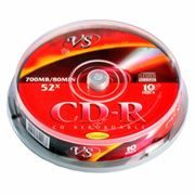 Диск CD-R VS 700Mb Ink Printable 52x, Cake Box, 10шт (VSCDRIPCB1001)