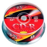 Диск CD-R VS 700Mb Ink Printable 52x, Cake Box, 25шт (VSCDRIPCB2501)