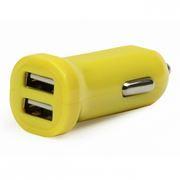 Зарядное автомобильное устройство SmartBuy CAR CRAFT, 2.1A 2xUSB, желтое (SBP-8330)