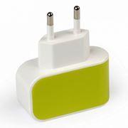 Зарядное устройство SmartBuy COLOR CHARGE Combo + кабель microUSB, 1A, желтое (SBP-8080)