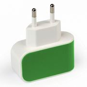 Зарядное устройство SmartBuy COLOR CHARGE Combo + кабель microUSB, 1A, зеленое (SBP-8015)