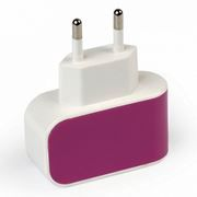 Зарядное устройство SmartBuy COLOR CHARGE Combo + кабель microUSB, 1A, фиолетовое (SBP-8090)