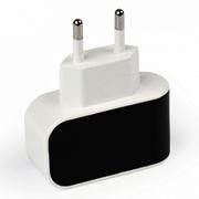 Зарядное устройство SmartBuy COLOR CHARGE Combo + кабель microUSB, 1A, черное (SBP-8060)