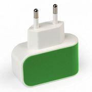 Зарядное устройство SmartBuy COLOR CHARGE, 1A USB, зеленое (SBP-8040)