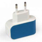 Зарядное устройство SmartBuy COLOR CHARGE, 1A USB, синее (SBP-8010)