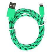 Кабель USB 2.0 Am=>Apple 8 pin Lightning, нейлон, 1.2 м, зеленый, SmartBuy (iK-512n green)