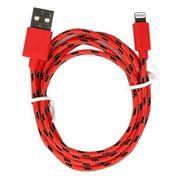Кабель USB 2.0 Am=>Apple 8 pin Lightning, нейлон, 1.2 м, красный, SmartBuy (iK-512n red)