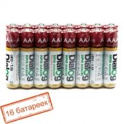 Батарейка AAA DIALOG LR03-16S Alkaline, 16 шт, в термопленке