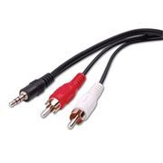 Кабель аудио 3.5 stereo plug -> 2 RCA plug, 3.0 м