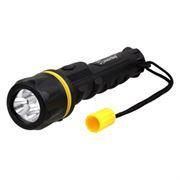 Фонарь SmartBuy, резиновый, черный, 3 LED, 2xAA (SBF-76-K)