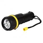 Фонарь SmartBuy, резиновый, черный, 3 LED, 2xD (SBF-77-K)