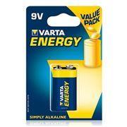 Батарейка 9V VARTA 6LR61/1BL Energy, щелочная, в блистере (4122-229)
