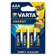 Батарейка AAA VARTA LR03/4BL Energy, щелочная, 4 шт, в блистере (4103-213)