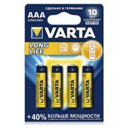 Батарейка AAA VARTA LR03/4BL Long Life, щелочная, 4 шт, в блистере (4103-113)