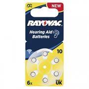 Батарейка Rayovac 10 для слуховых аппаратов, 6 шт, блистер