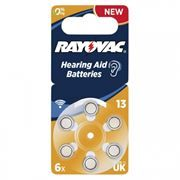 Батарейка Rayovac 13 для слуховых аппаратов, 6 шт, блистер