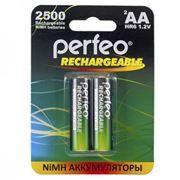 Аккумулятор AA Perfeo AA2500/2BL 2500мА/ч Ni-Mh, 2шт, блистер