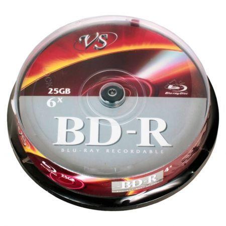 Диск BD-R VS 25 Gb 6x, Cake Box, 10 шт (VSBDR4CB1002)...