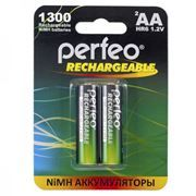 Аккумулятор AA Perfeo AA1300/2BL 1300мА/ч Ni-Mh, 2шт, блистер
