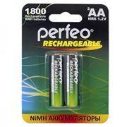 Аккумулятор AA Perfeo AA1800/2BL 1800мА/ч Ni-Mh, 2шт, блистер