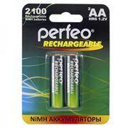 Аккумулятор AA Perfeo AA2100/2BL 2100мА/ч Ni-Mh, 2шт, блистер