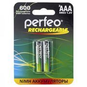 Аккумулятор AAA Perfeo AAA600/2BL 600мА/ч Ni-Mh, 2шт, блистер