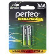 Аккумулятор AAA Perfeo AAA800/2BL 800мА/ч Ni-Mh, 2шт, блистер