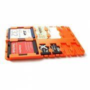 Футляр-кредитка SD SIM Holder для карт памяти, 9 карманов, пластик, оранжевый