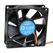 Вентилятор 80 x 80 x 25, 3 pin, 12V, втулка, кабель 15 см, 5bites (F8025S-3)