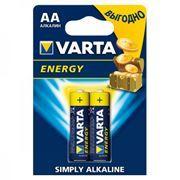 Батарейка AA VARTA LR6/2BL Energy, щелочная, 2 шт, в блистере (4106-213)