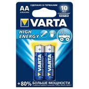 Батарейка AA VARTA LR6/2BL High Energy, щелочная, 2 шт, в блистере (4906)