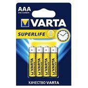 Батарейка AAA VARTA R03/4BL Superlife, солевая, 4 шт, в блистере (2003)
