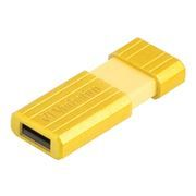 8Gb Verbatim PinStripe Sunkissed Yellow USB 2.0 (47395)