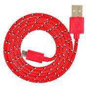 Кабель USB 2.0 Am=>micro B - 1.2 м, нейлон, красный, Smartbuy (iK-12n red)