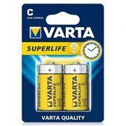 Батарейка C VARTA R14/2BL Superlife, солевая, 2 шт, в блистере (2014)