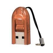Карт-ридер внешний USB Perfeo PF-VI-R015 для microSD, оранжевый