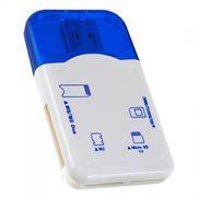 Карт-ридер внешний USB Perfeo PF-VI-R010, синий