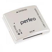 Карт-ридер внешний USB Perfeo PF-VI-R014, белый