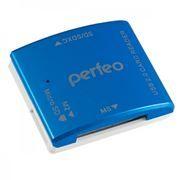 Карт-ридер внешний USB Perfeo PF-VI-R014, синий