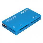 Карт-ридер внешний USB Perfeo PF-VI-R018, синий
