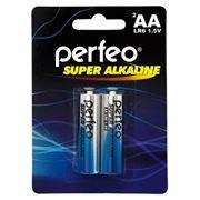 Батарейка AA Perfeo LR6/2BL Super Alkaline, 2шт, блистер
