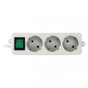 Удлинитель сетевой ГАРНИЗОН EL-NB-G3-W-3, белый, 10A, 3 м, 3 розетки, выключатель