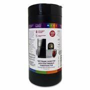 Салфетки влажные CBR для пластиковых поверхностей, в тубе 100шт (CS 0030-100)