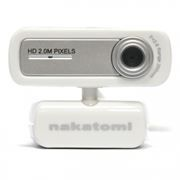Веб-камера Nakatomi WC-E2000 White/Silver, HD 720p, 2.0 MP