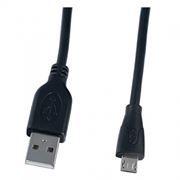Кабель USB 2.0 Am=>micro B - 0.5 м, черный, Perfeo (U4004)