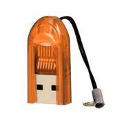 Карт-ридер внешний USB SmartBuy SBR-710-O Orange, microSD/microSDHC