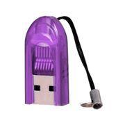 Карт-ридер внешний USB SmartBuy SBR-710-F Violet, microSD/microSDHC