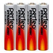 Батарейка AAA Perfeo R03/4SH Dynamic Zinc, 4 шт, термопленка